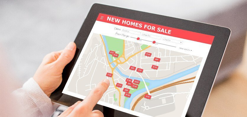 Top tips for new homes website design