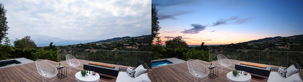 Twilight Image enhancement for real estate